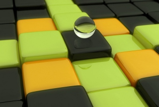 Abstract Cubes And Sphere - Fondos de pantalla gratis para 1680x1050