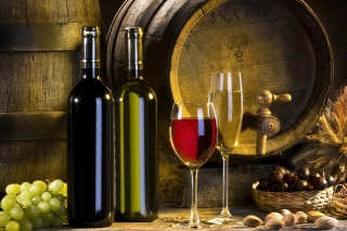 Red and White Wine Picture for Android, iPhone and iPad