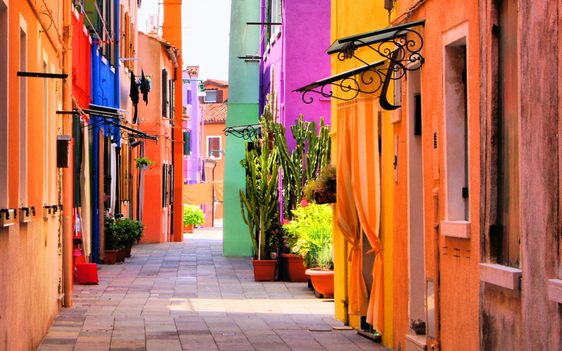 Beautiful Italy Street para Widescreen Desktop PC 1920x1080 Full HD