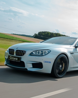 BMW M6 Background for Nokia Asha 306