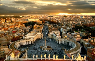 Piazza San Pietro Square - Vatican City Rome Wallpaper for Sony Xperia M