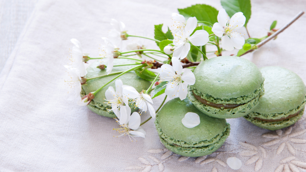 Spring Style French Dessert Macarons