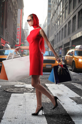 Screenshot №1 pro téma Lady From Boutique In New York 320x480