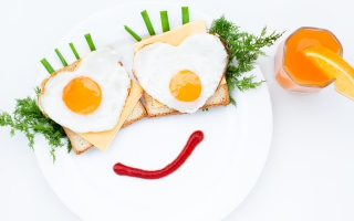 Creative Breakfast For Loved One Background for Android, iPhone and iPad