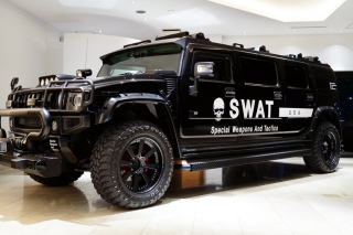 Hummer H2 for Swat Background for Nokia XL