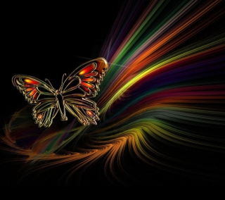 Abstract Butterfly - Fondos de pantalla gratis para 1024x1024