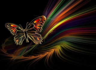 Abstract Butterfly Background for Android, iPhone and iPad