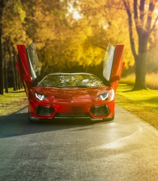 Lamborghini Aventador Roadster Picture for HTC Titan