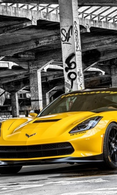 Screenshot №1 pro téma Chevrolet Corvette Stingray 240x400