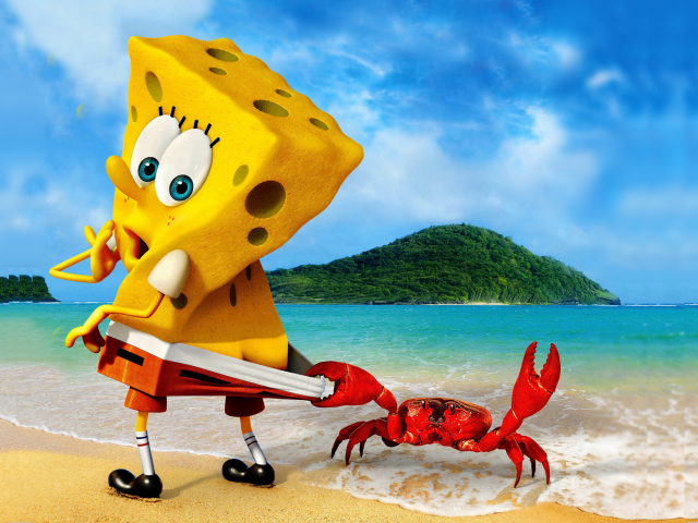 Spongebob And Crab for Sony Ericsson XPERIA X8