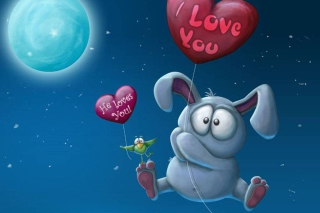 Valentine Bunny Picture for Android, iPhone and iPad