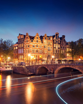 Amsterdam Attraction at Evening - Fondos de pantalla gratis para Nokia Lumia 1520