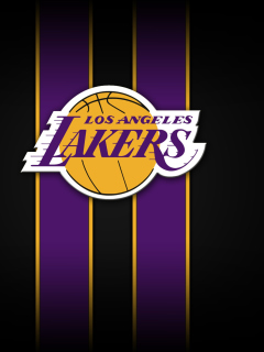 Screenshot №1 pro téma Los Angeles Lakers 240x320