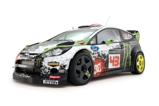 Ken Block - Ford Fiesta HFHV Wallpaper for Android, iPhone and iPad