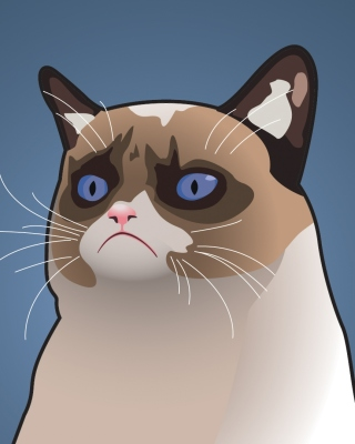 Grumpy Cat, Oh Great Im a Background - Obrázkek zdarma pro iPhone 4S