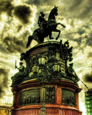Monument to Nicholas I in Saint Petersburg Background for HTC Titan