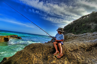 Young Boy Fishing sfondi gratuiti per cellulari Android, iPhone, iPad e desktop