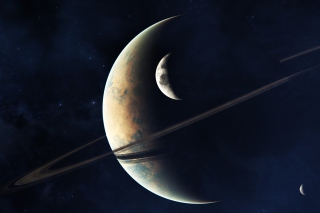 Planets In Space Wallpaper for Android, iPhone and iPad