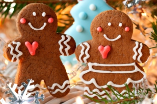 Traditional Christmas Cookies Wallpaper for Android, iPhone and iPad