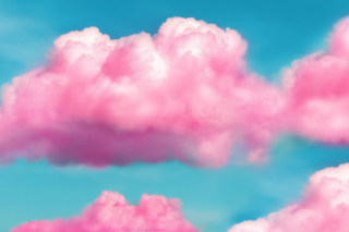 Pink Fluffy Clouds Picture for Android, iPhone and iPad