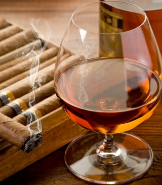Cognac vs Cigars Background for Nokia C1-01