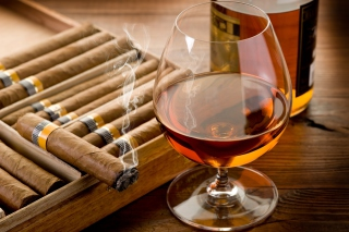 Cognac vs Cigars Picture for Android, iPhone and iPad