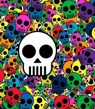 Skull Print Wallpaper for 640x1136