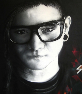 Skrillex Background for 128x160