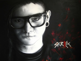 Skrillex Background for 1280x1024