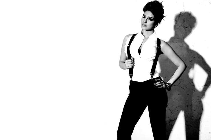 Screenshot №1 pro téma Priyanka Chopra Black and White