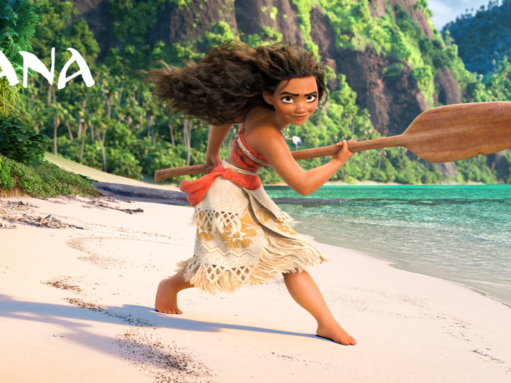 Screenshot №1 pro téma Moana 3D Cartoon 1024x768