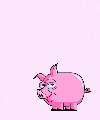 Pink Pig Illustration Wallpaper for HTC Titan