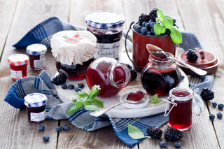 Blueberries and Blackberries Jam Picture for Android, iPhone and iPad