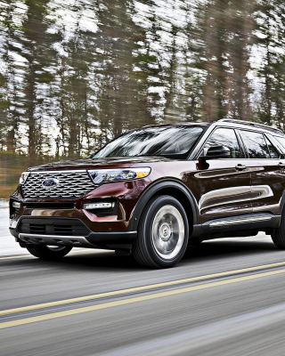 2020 Ford Explorer papel de parede para celular para iPhone 4S