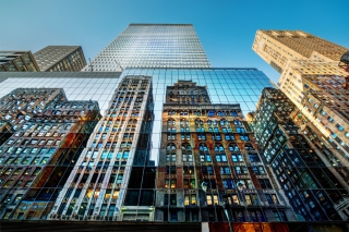 Free Big City Reflections Picture for Android, iPhone and iPad