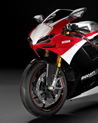 Superbike Ducati 1198 R Background for iPhone 5C
