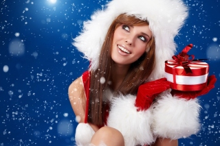 Snow Maiden aka Snegurochka Background for Android, iPhone and iPad