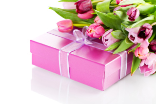 Pink Tulips and Gift sfondi gratuiti per Samsung Galaxy Ace 3