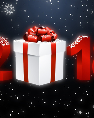 Kostenloses New Year 2018 Greetings Card Wallpaper für Nokia Lumia 925