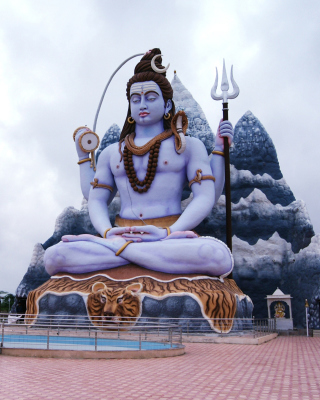 Free Lord Shiva in Mount Kailash Picture for Nokia Asha 305