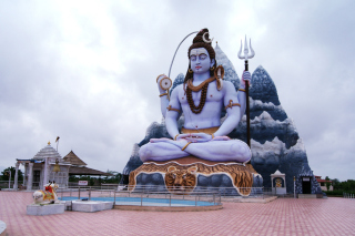 Lord Shiva in Mount Kailash Wallpaper for 1080x960