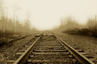 Free Railway In A Fog Picture for Android, iPhone and iPad