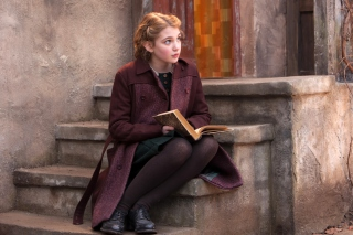Sophie Nelisse In The Book Thief Background for Android, iPhone and iPad