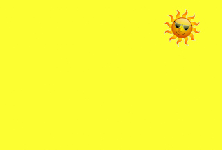 Yellow Sun Illustration Background for Android, iPhone and iPad