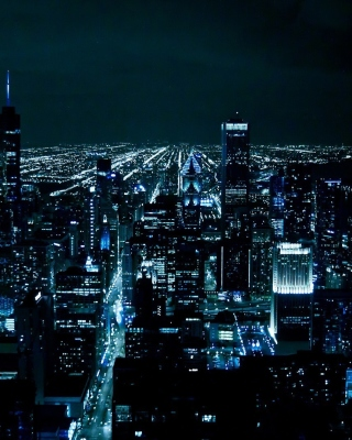 Chicago Night Lights Wallpaper for iPhone 5