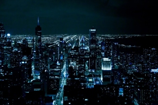 Chicago Night Lights Background for Android, iPhone and iPad