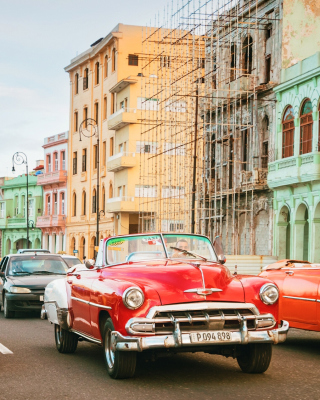 Cuba Retro Cars in Havana Background for Nokia 5233