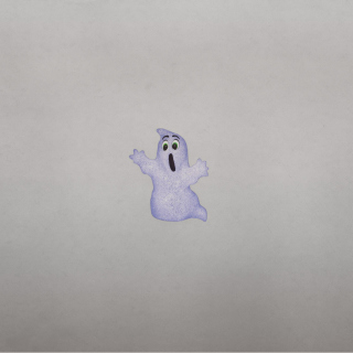 Funny Ghost Illustration Wallpaper for iPad 2