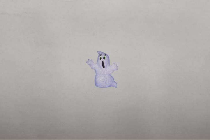Funny Ghost Illustration wallpaper