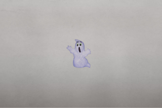 Funny Ghost Illustration Background for Android, iPhone and iPad